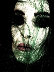 Diamanda Galás photographed by Kristofer Buckle, from Wikipedia