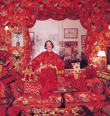 Diana Vreeland at home